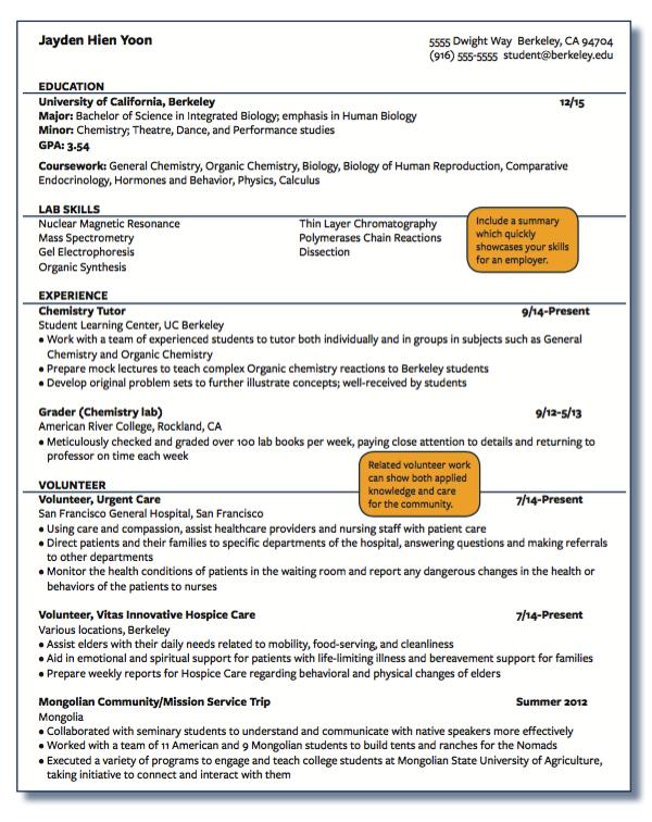 Example Of Chemistry Tutor Examples Resume Cv