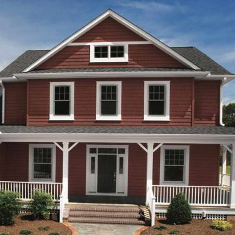 Shake Siding With Vinyl Color Red Design- I Love The Red
