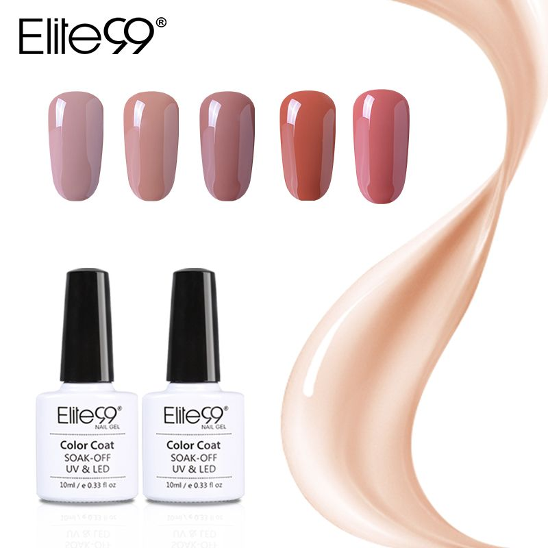Promo Elite99 Gel Polish Varnish UV LED Gorgeous Nude Color Series ...