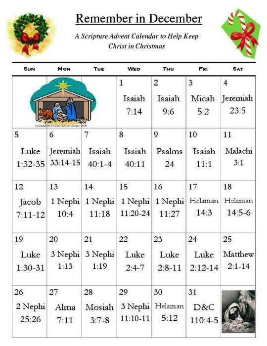 Advent Calendar Ideas Bible Verses : Remember in december a scripture advent calendar to help
