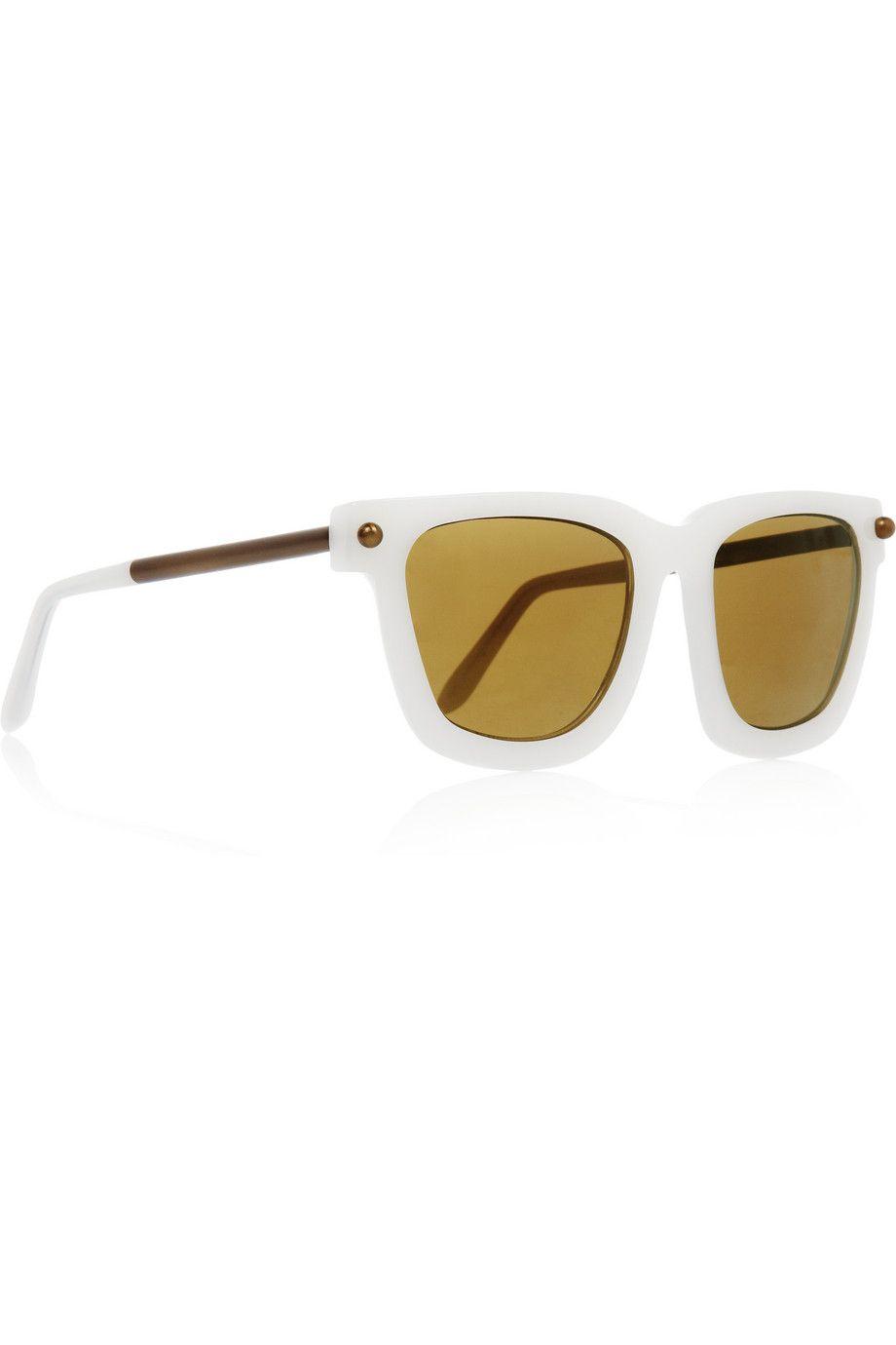 Alexander Wang|Square-frame acetate and metal sunglasses|NET-A-PORTER.COM