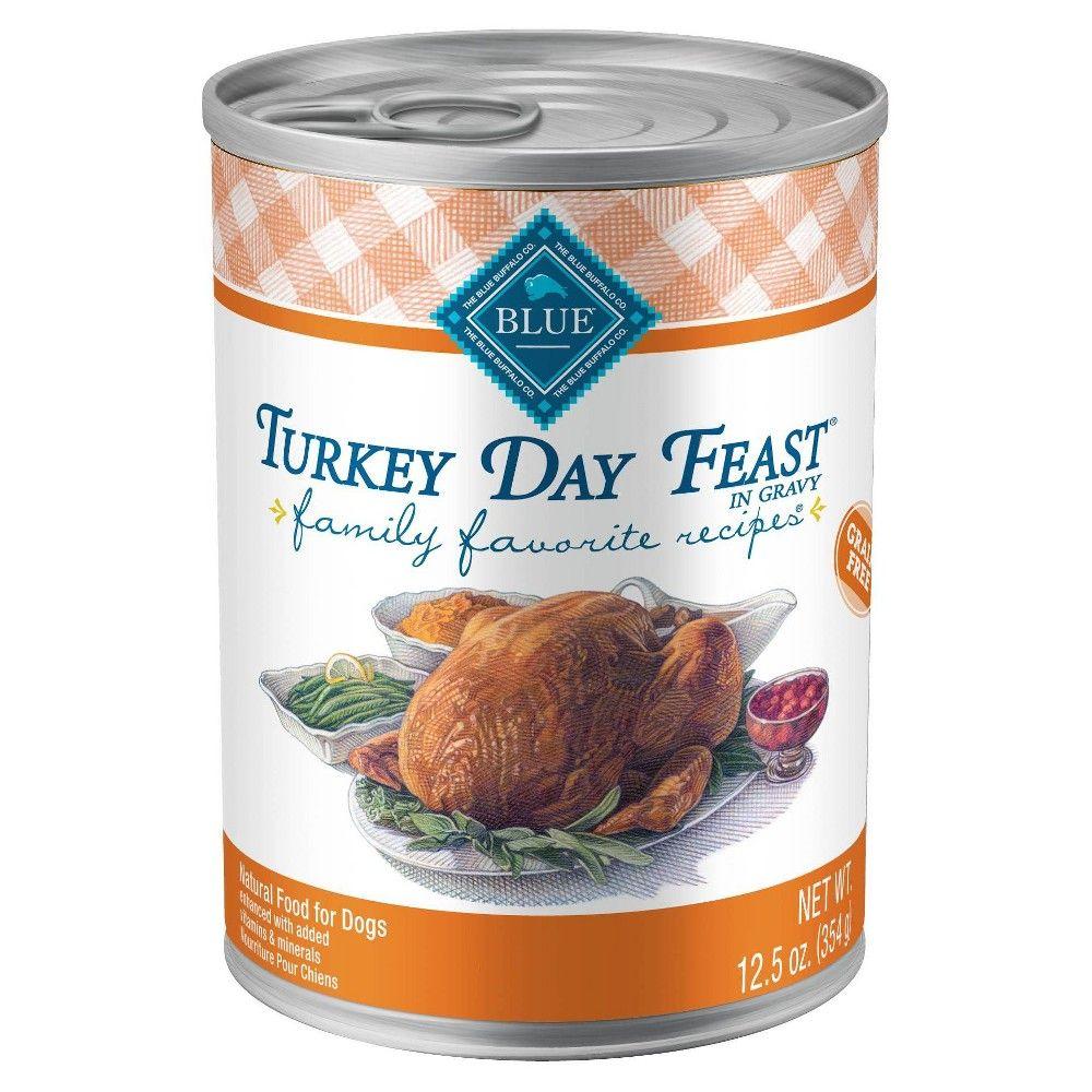 Blue buffalo family favorites turkey day feast dinner