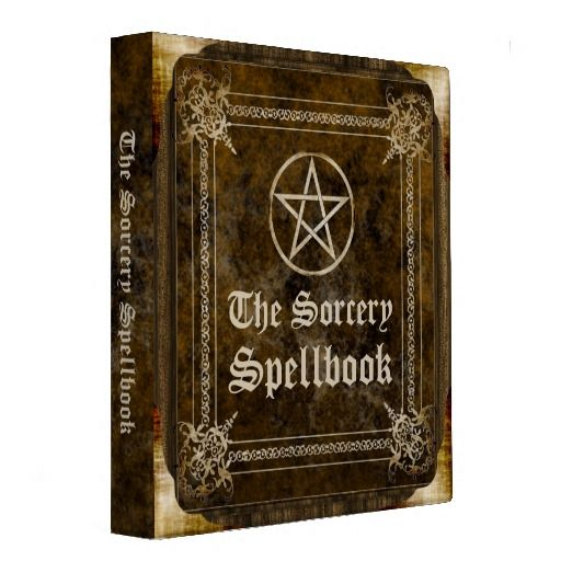 The Sorcery Spellbook 3 Ring Binder Zazzle Com Med Billeder