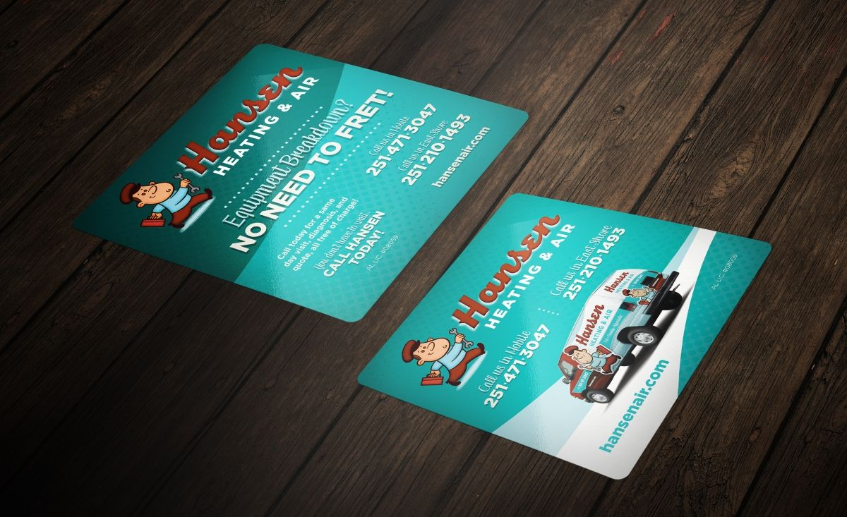 Sticker design for Hansen Heating & Air, a HVAC company in