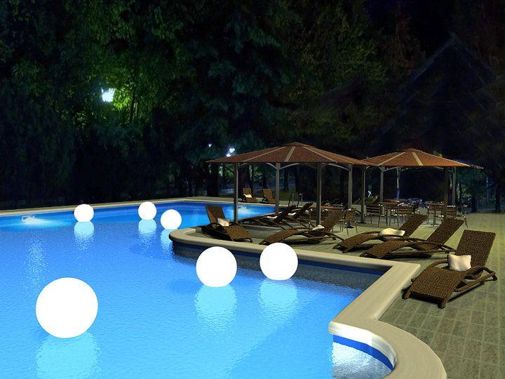 boules lumineuses dans la piscine piscine deco pinterest piscine boule lumineuse et deco. Black Bedroom Furniture Sets. Home Design Ideas