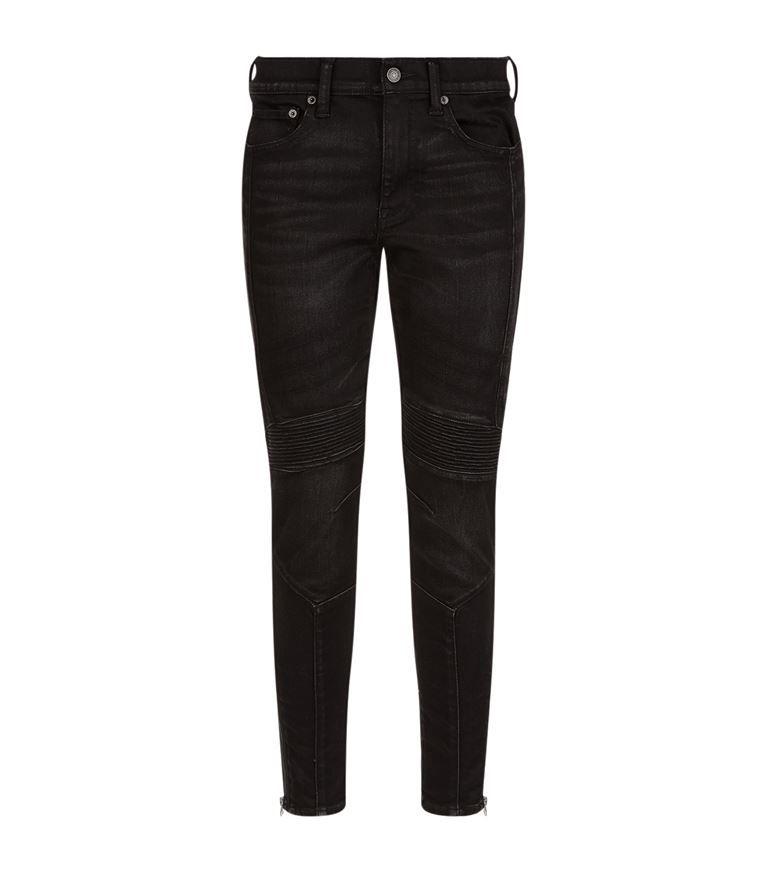 Black · POLO RALPH LAUREN Tompkins Skinny Moto Jeans.