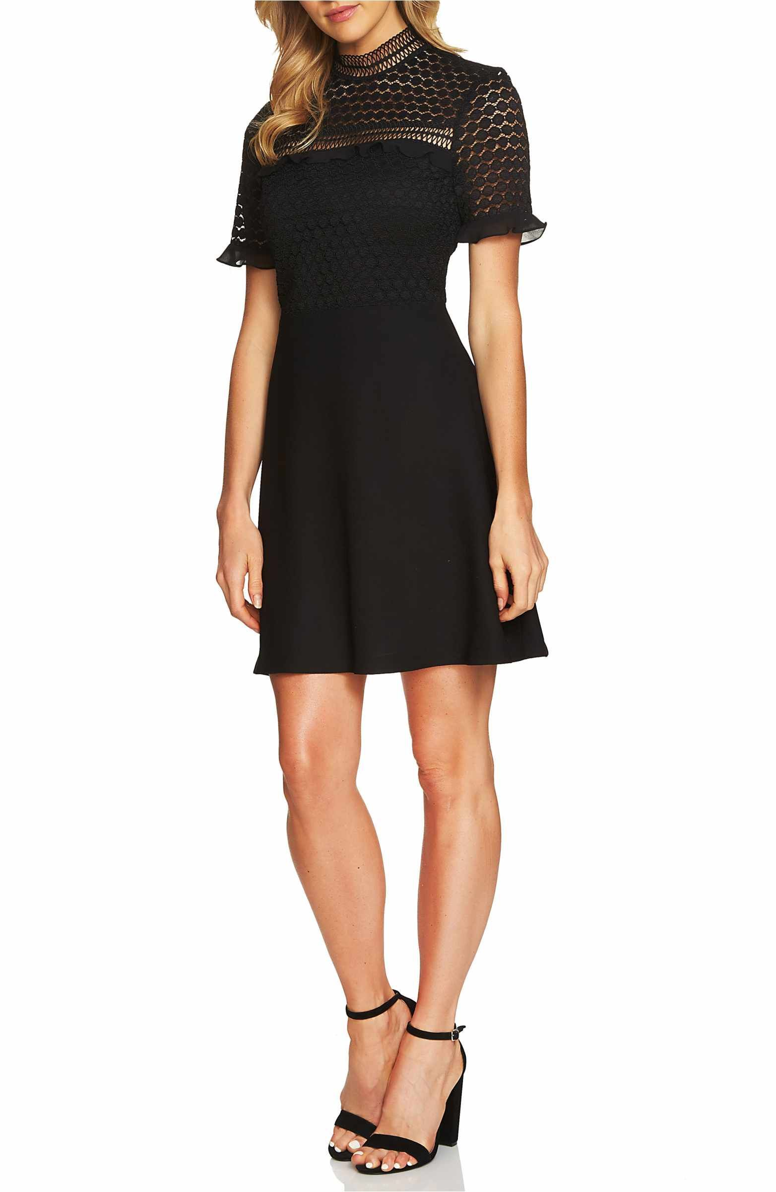 Cece Lillian Lace Fit Amp Flare Dress Nordstrom Dresses