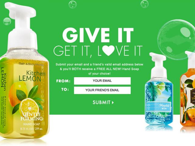 Free Sample: Hand Soap at Bath & Body Works | Deals, coupons
