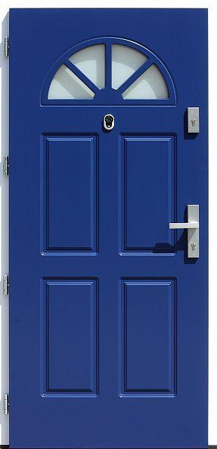 Drewniane wejściowe drzwi zewnętrzne do domu z katalogu modeli klasycznych wzór 506