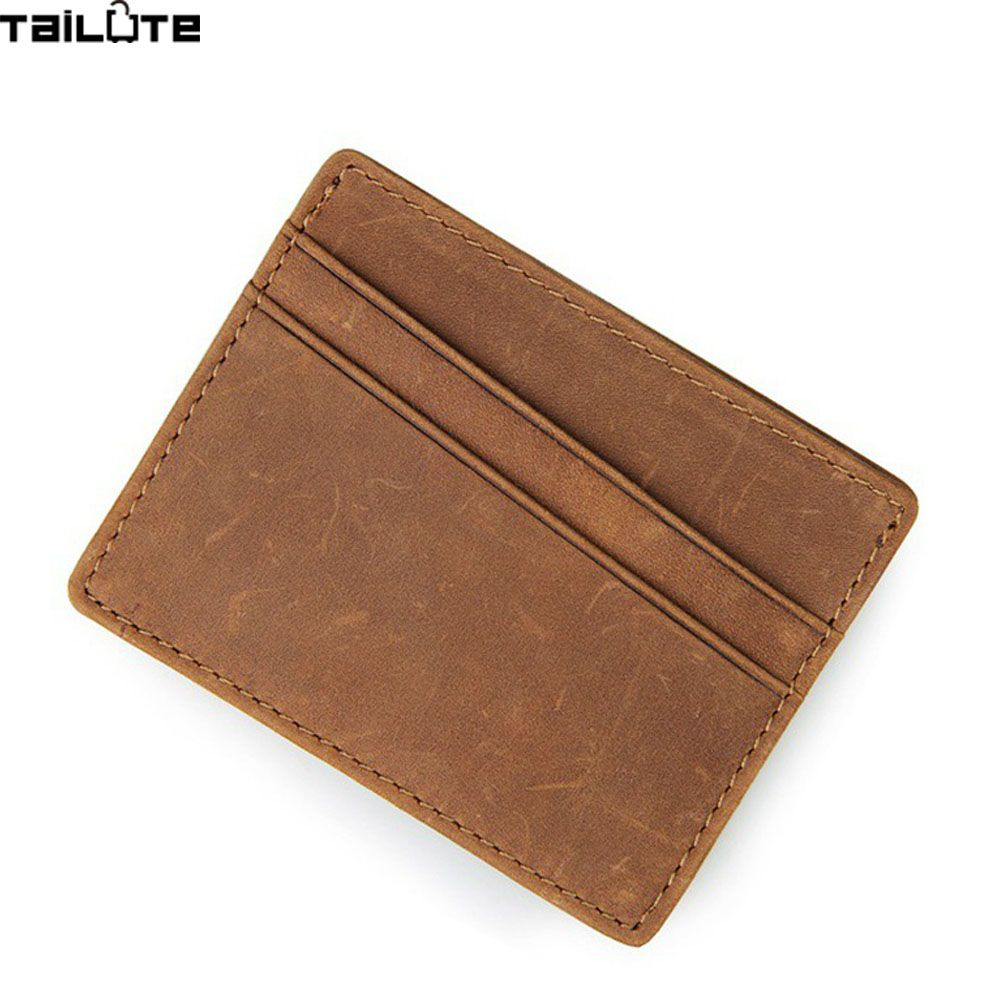 tailute genuine leather men wallet business card holder bank cardholder cow pickup package bus card holder - Business Card Holder For Men