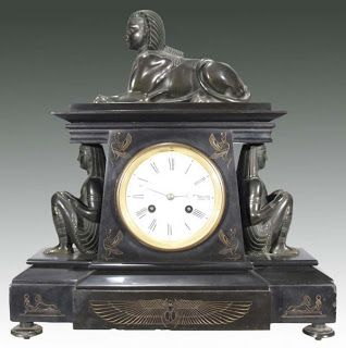 Egyptian Revival French Shelf Clock Circa 1870