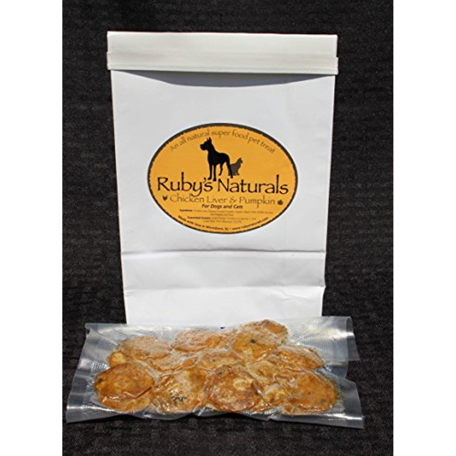 Ruby's Naturals Chicken Liver and Pumpkin 4 oz. You