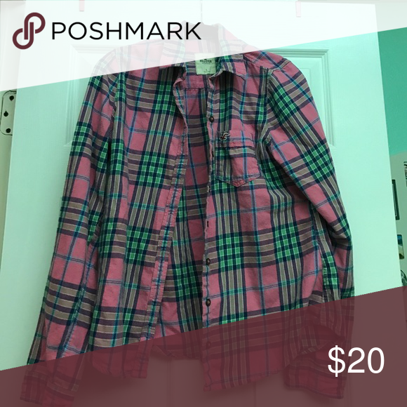 Plaid Flannel Perfect for the spring or summer days Tops Tees - Long Sleeve