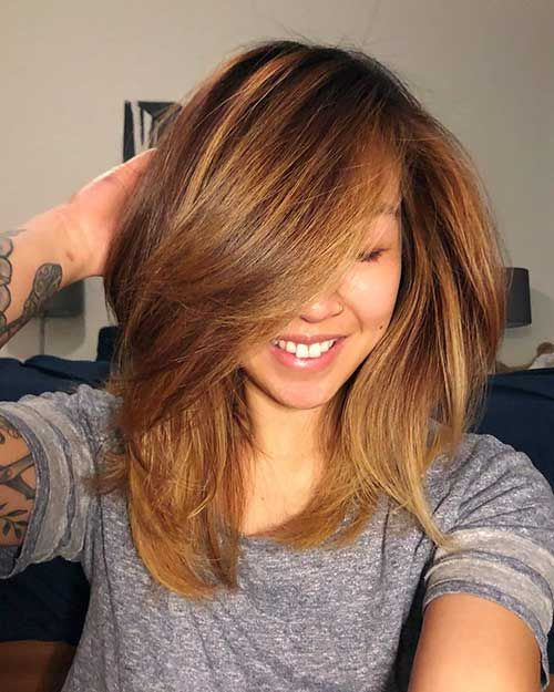 35+ Popular Short Medium Layered Haircuts #shortlayeredhaircuts