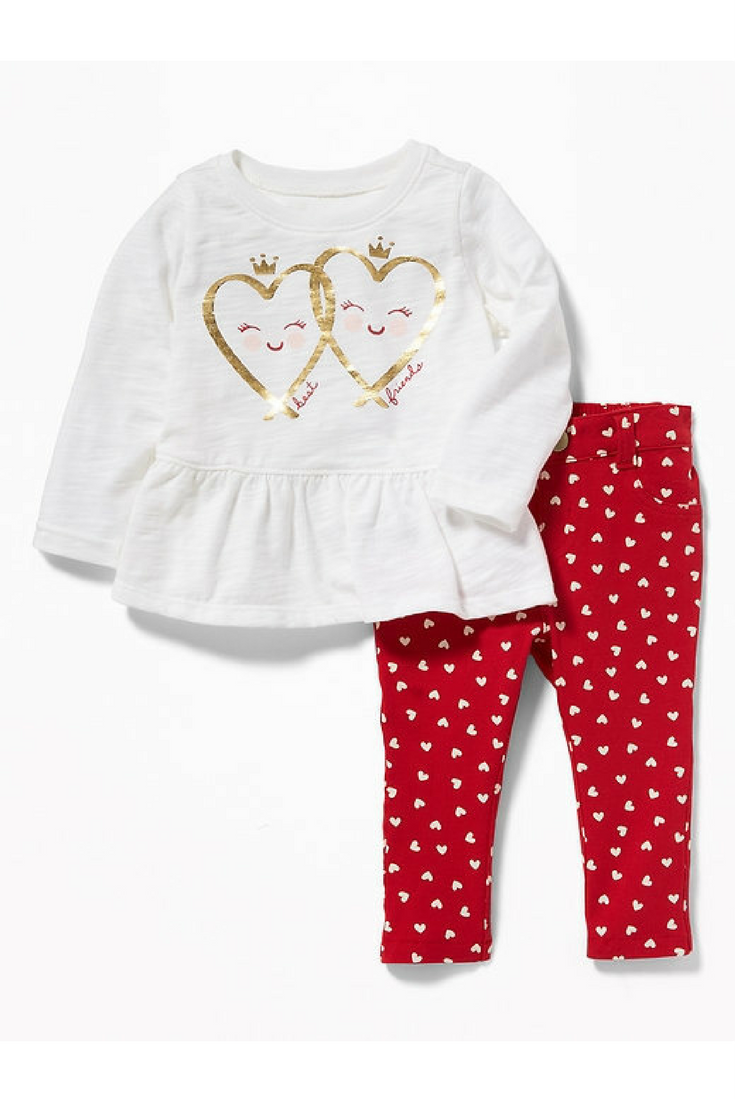 779bfea8f Baby Valentines Day Graphic shirt and printed leggings  ad