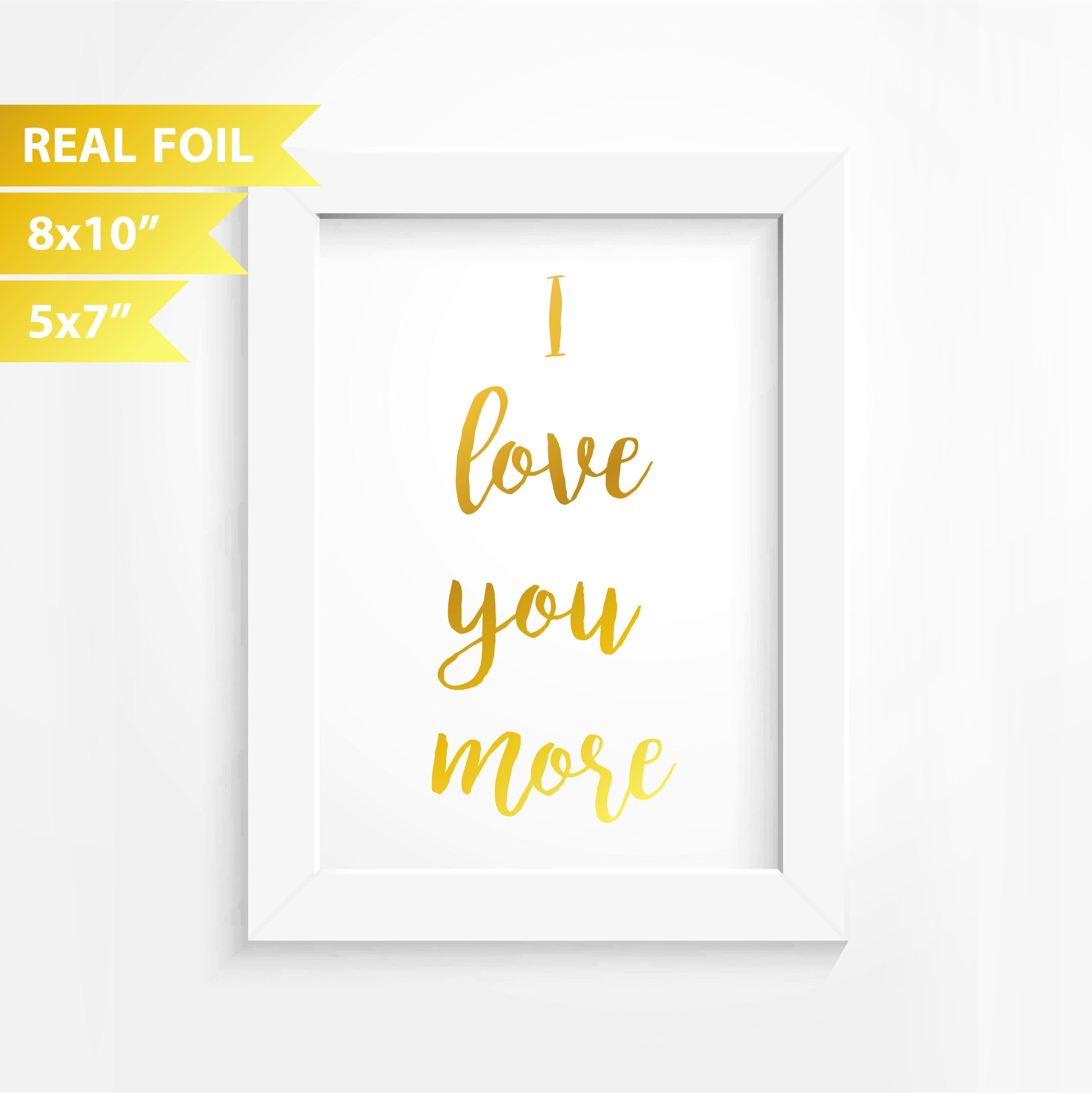 Rose Gold Wall Decor Real Foil Print Decor Love Gift Anniversary Present Gold Foil Art