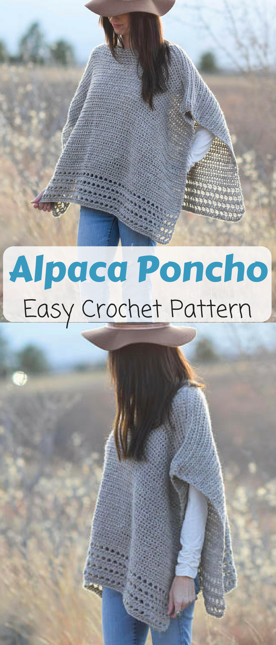 Alpaca Easy Crocheted Poncho Pattern, I am going to make one for me ...
