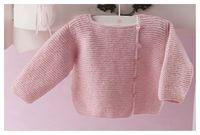 Jersey bebé cuello cuadrado | Patrones De Bebé | Chaqueta