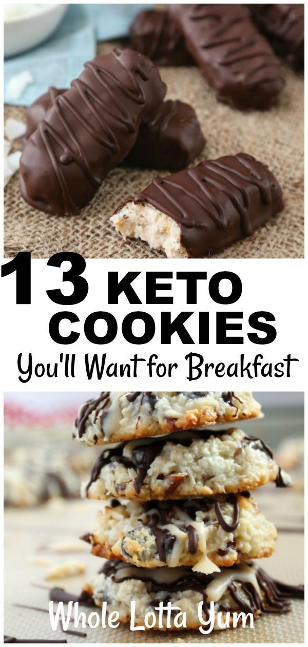 19 Delicious Low Carb & Keto Cookies and Bar Recipes #ketocookierecipes