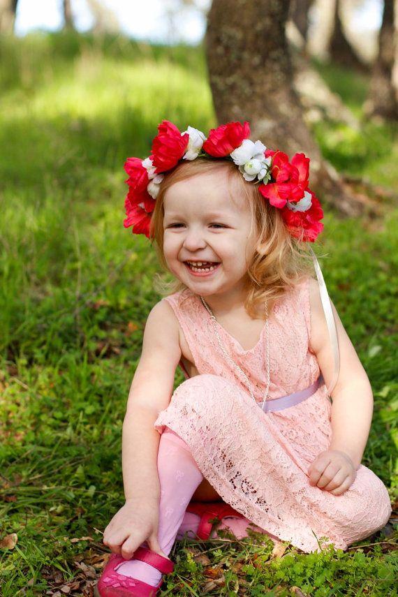 winter wonderland Flower headband Baby girl headband