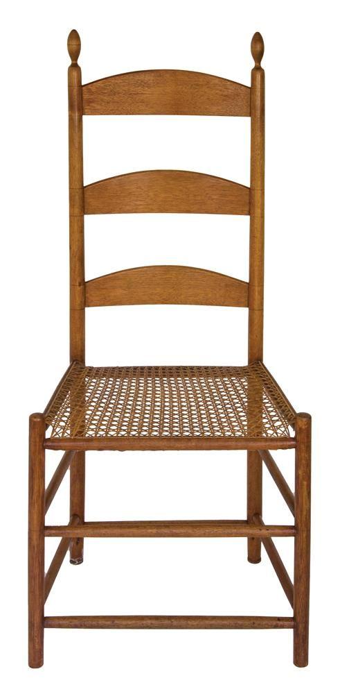 Merveilleux Shaker Furniture: Enfield Cane Seat Side Chair; Birch Antiquités, Mobilier  Shaker, Salle