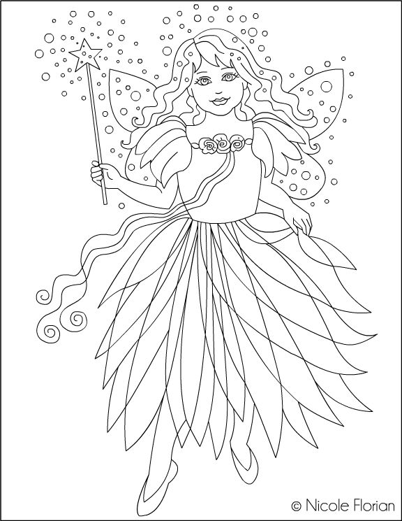 nicoles free coloring pages zana verde green fairy coloring page