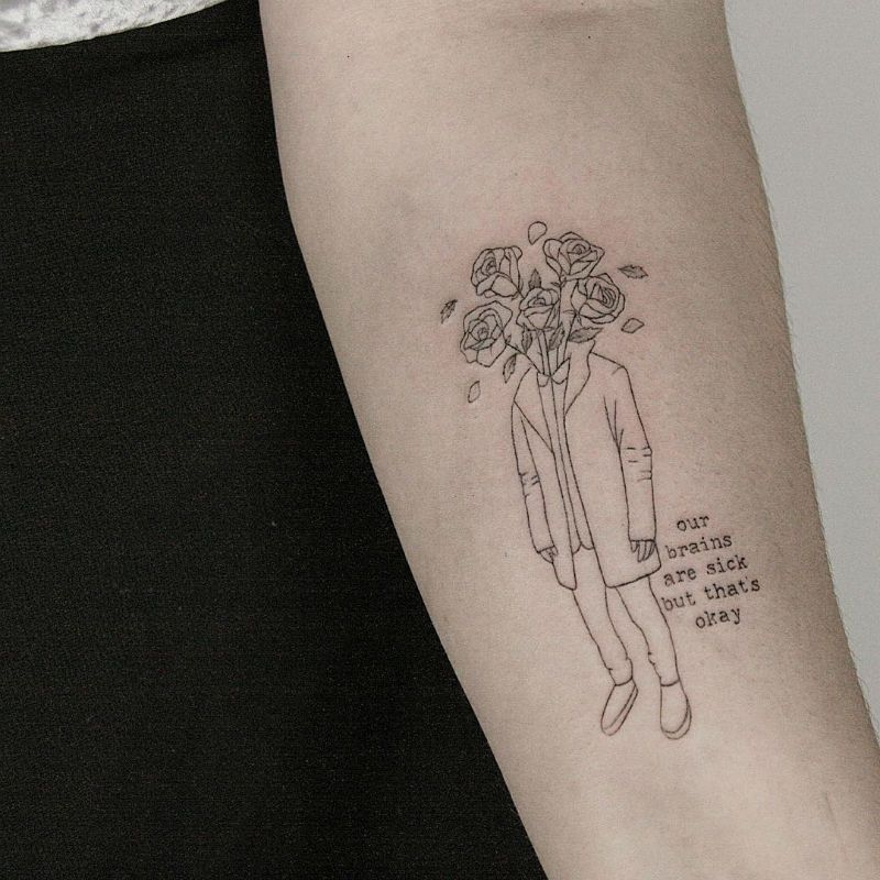 23 amazing minimalist tattoos by the talented lindsay for Minimal art tattoo