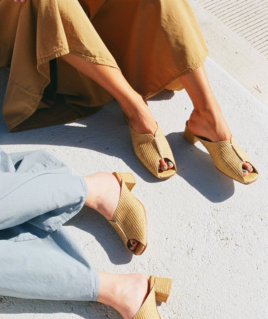 38dfa8831bf4 Beautiful rattan mid heel slides from Wite - the perfect every day easy  slide to compliment your wardrobe. Rattan Jacquard Upper - 100% Leather  Lining ...