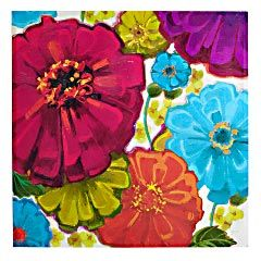 Amazing Colors Floral Art Outdoor Wall Art Floral Painting