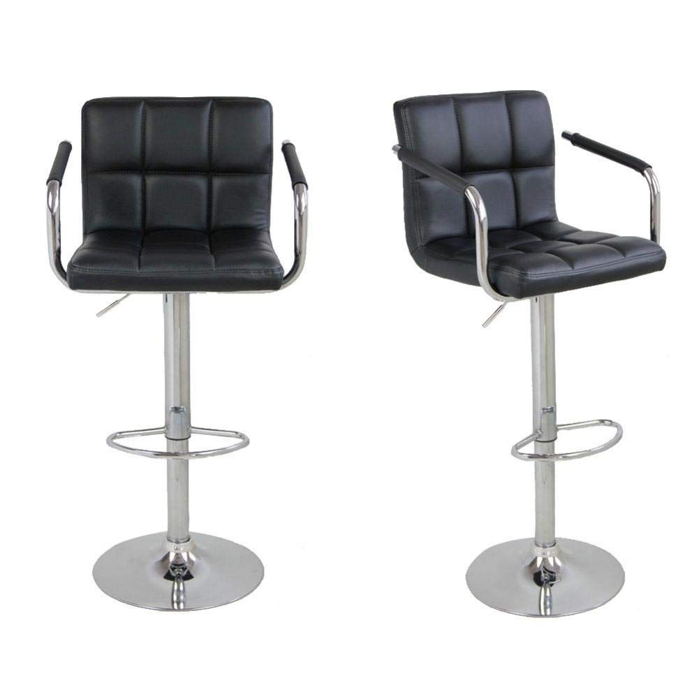 Ibelly 2pc Pu Leather Barstools Round Cushion Bar Stools With