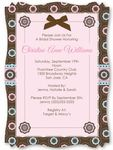 Trendy Flower -  Personalized High Quality Vellum Overlay Bridal Shower Invitations With Squiggle Shape