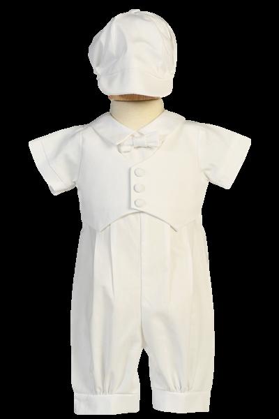 Lito Baby Boys Vest Hat Poly Cotton Short Baptism Christening Set 0-24M
