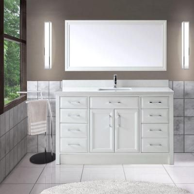 Studio Bathe Calais 60 In Vanity In White With Solid Surface