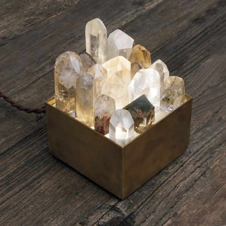 Crystal Lamp Box For The Crystal Lover Hostess Crystal Lamp Crystal Decor Crystals
