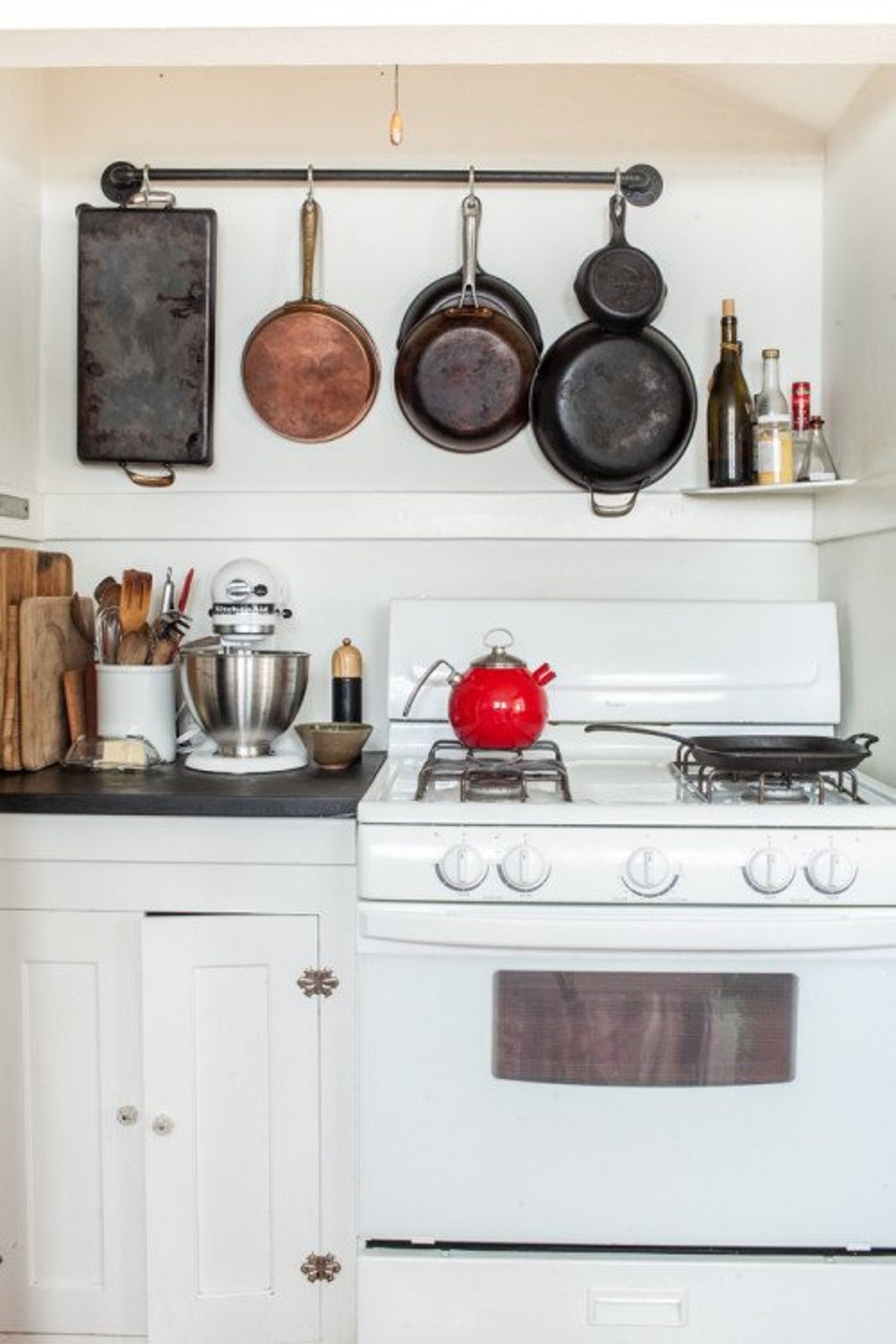 10 Kitchens With Cast Iron Pans on Display   Pinterest   Cast iron ...