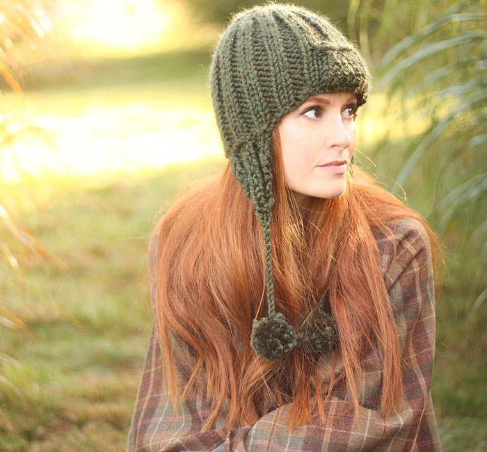 6b0e53a44d8 Trapper Hat free knitting pattern