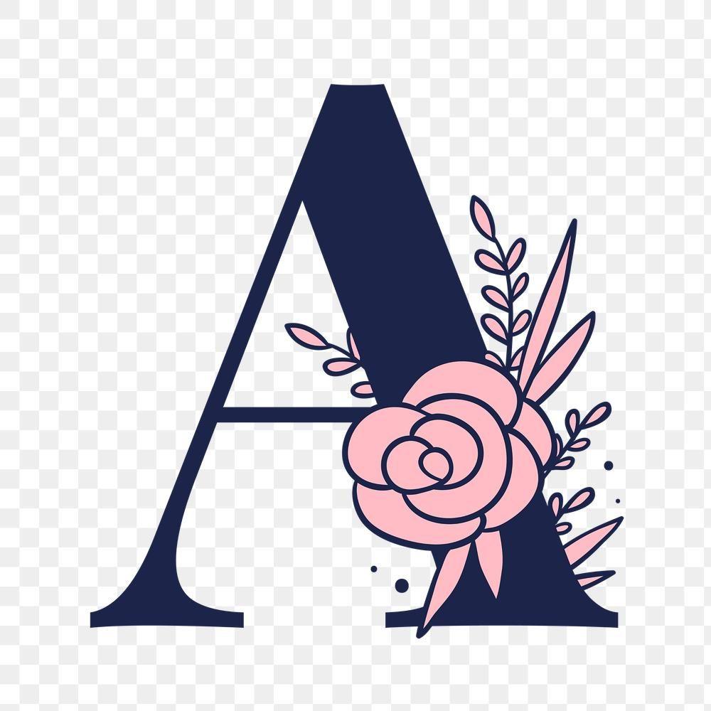Letter A Script Png Floral Alphabet Free Image By Rawpixel Com Tvzsu Lettering Alphabet Fonts Lettering Lettering Alphabet