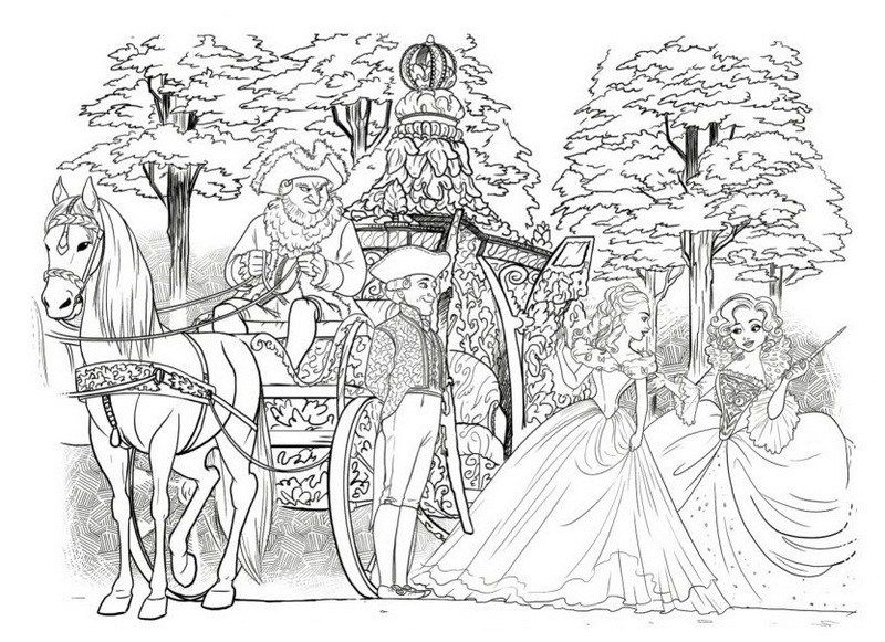 Elegant Cinderella Carriage Coloring Picture Cinderella Coloring Pages Coloring Pictures Horse Coloring Pages