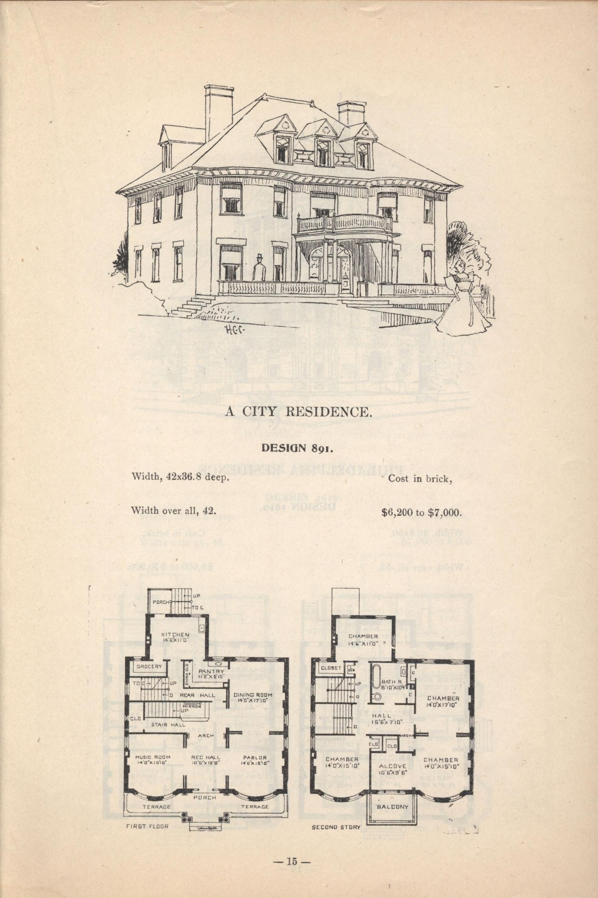 Artistic City Houses No 43 Victorian House Plans Vintage House Plans Mansion Floor Plan