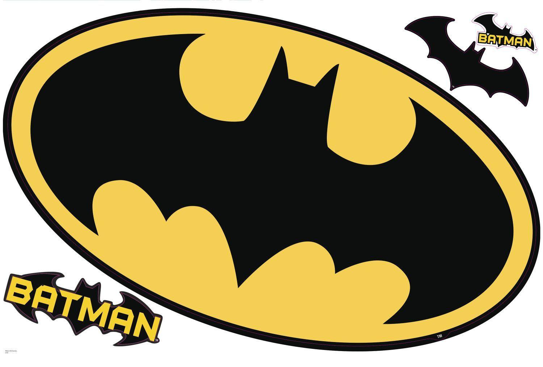 Popular Characters Batman Logo Dry Erase Wall Decal Art Draw