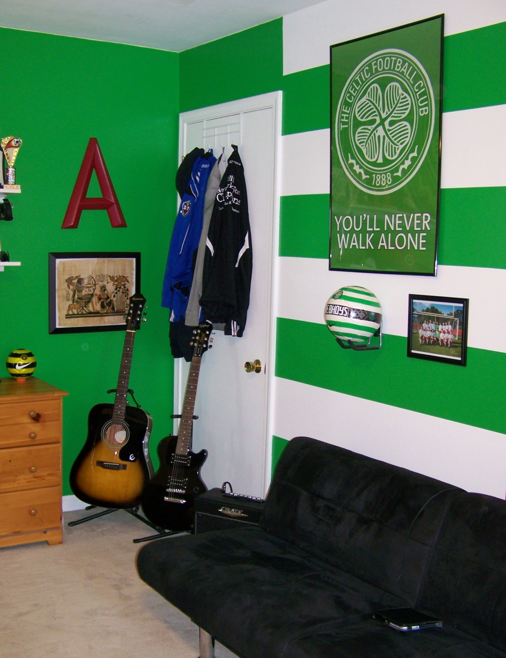Celtic Fc Hoops And Colors Painted And Decorated In Adam S