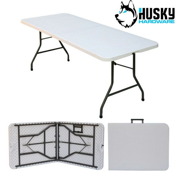 husky folding #plastic table banquet #trestle bbq diy camping picnic