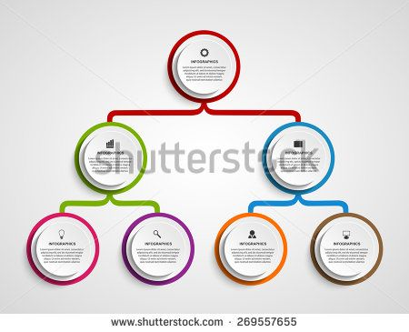 Infographic design organization chart template Info Graphic - horizontal organization chart template