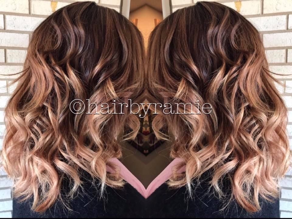 Hairbyramie Hair Highlights Blonde Brunette Balayage Ombre Color