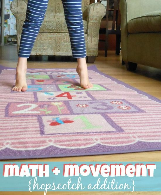 b4c5420260 Get kids moving and get kids adding -- with Hopscotch Addition. Combining  Math and Movement.