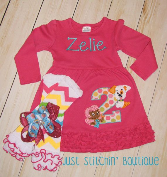 Bubble Guppies Inspired Birthday Dress by JustStitchinBoutique ...