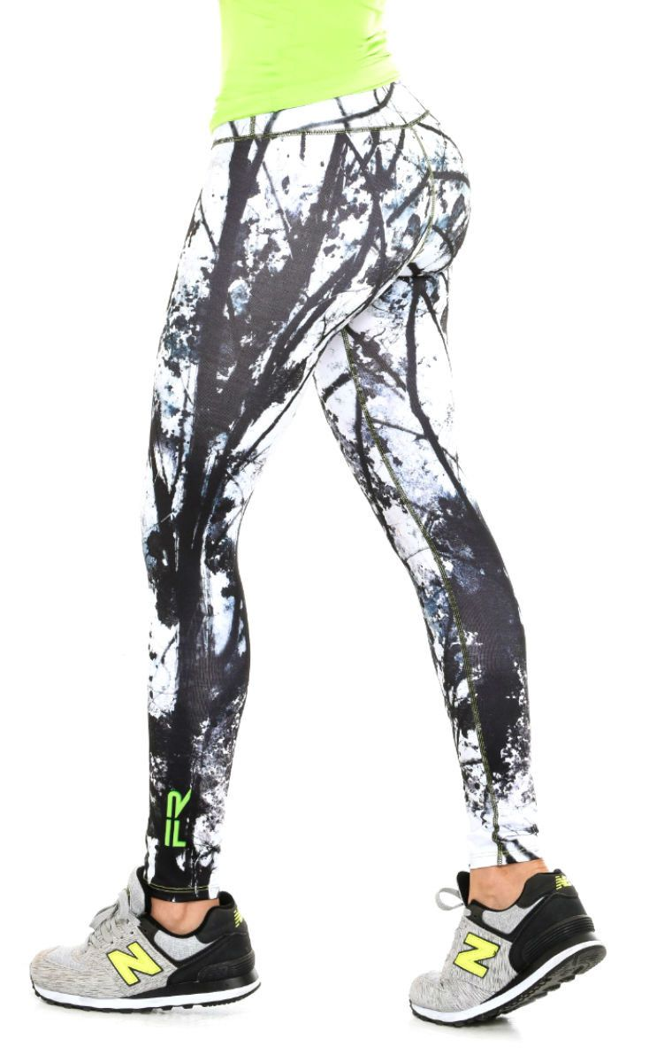 d855c9411a Fiber - Black and White Leggings - Roni Taylor Fit - 2