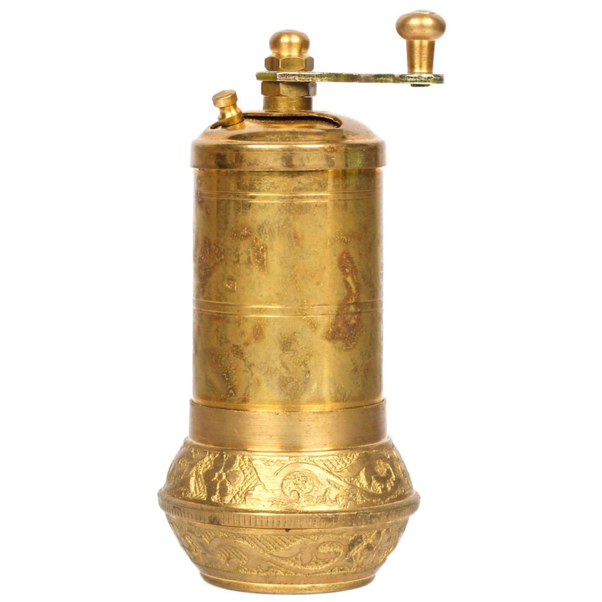 Antique Brass Turkish Brass Salt Pepper Spice Grinder Mill