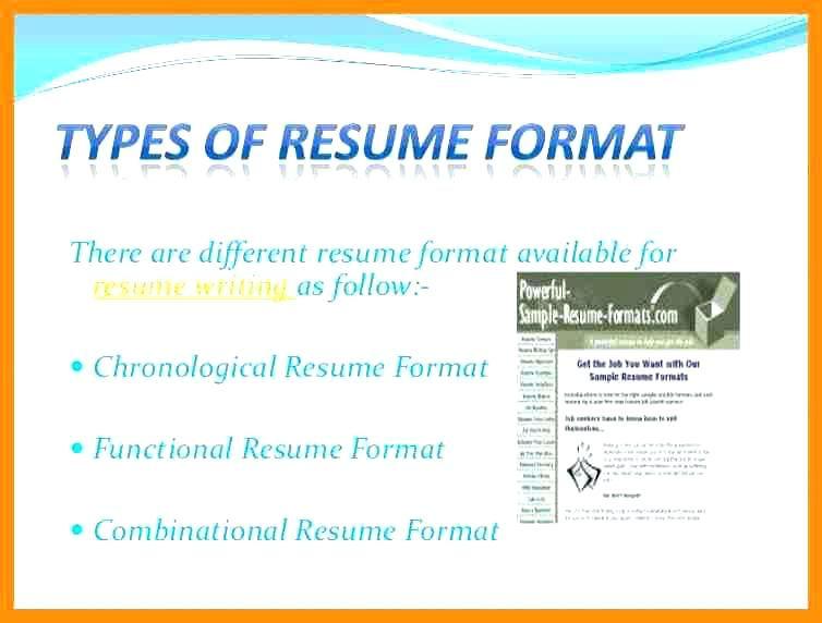 resume format types resume format pinterest resume format