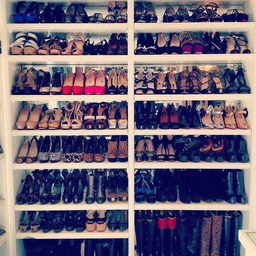 Shoe shelf.
